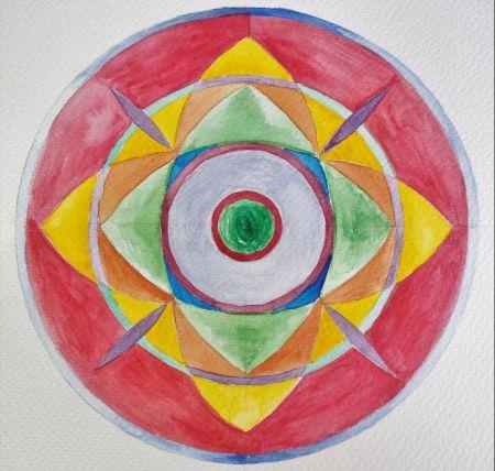 acquerello mandala