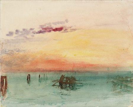 tramonto acquerello turner